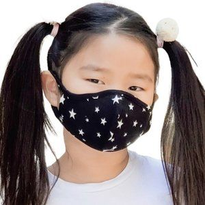 NEW Black White Star Print Children Kids Face Mask